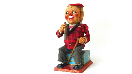 Battery Operated Vintage Smoking McGregor Toy:葉巻を燻らすマクレガー人形