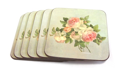 Antique Roses Art For The Table PIMPERNEL COASTERS 5543:ピンパーネル コースター アンティーク ローズ